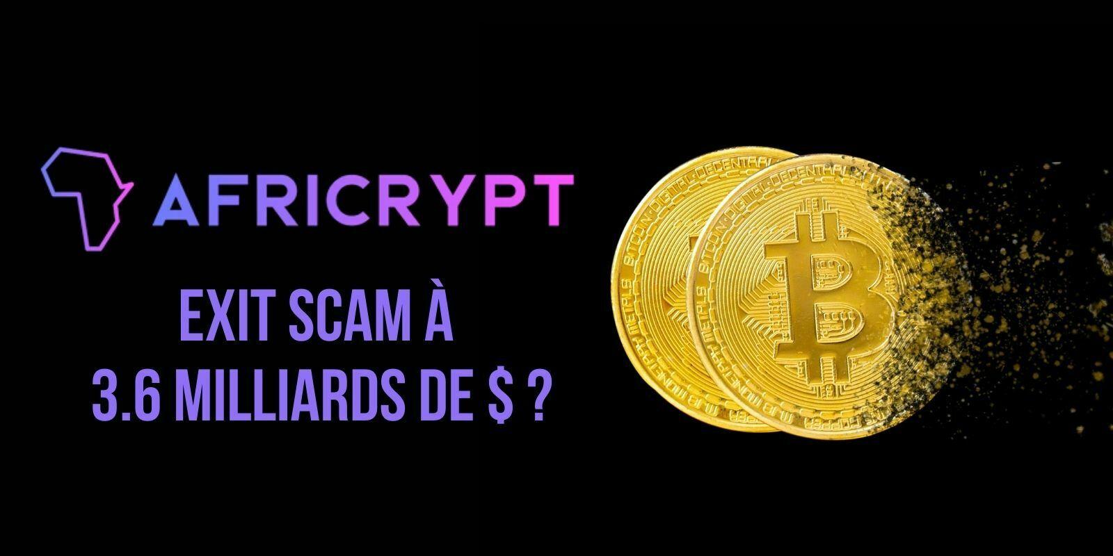 3,6 milliards de dollars en Bitcoin (BTC) s'envolent d'Africrypt – Le plus gros exit scam de l'histoire?
