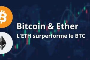 La surperformance de l'Ether (ETH) vis-à-vis du Bitcoin (BTC) se poursuit