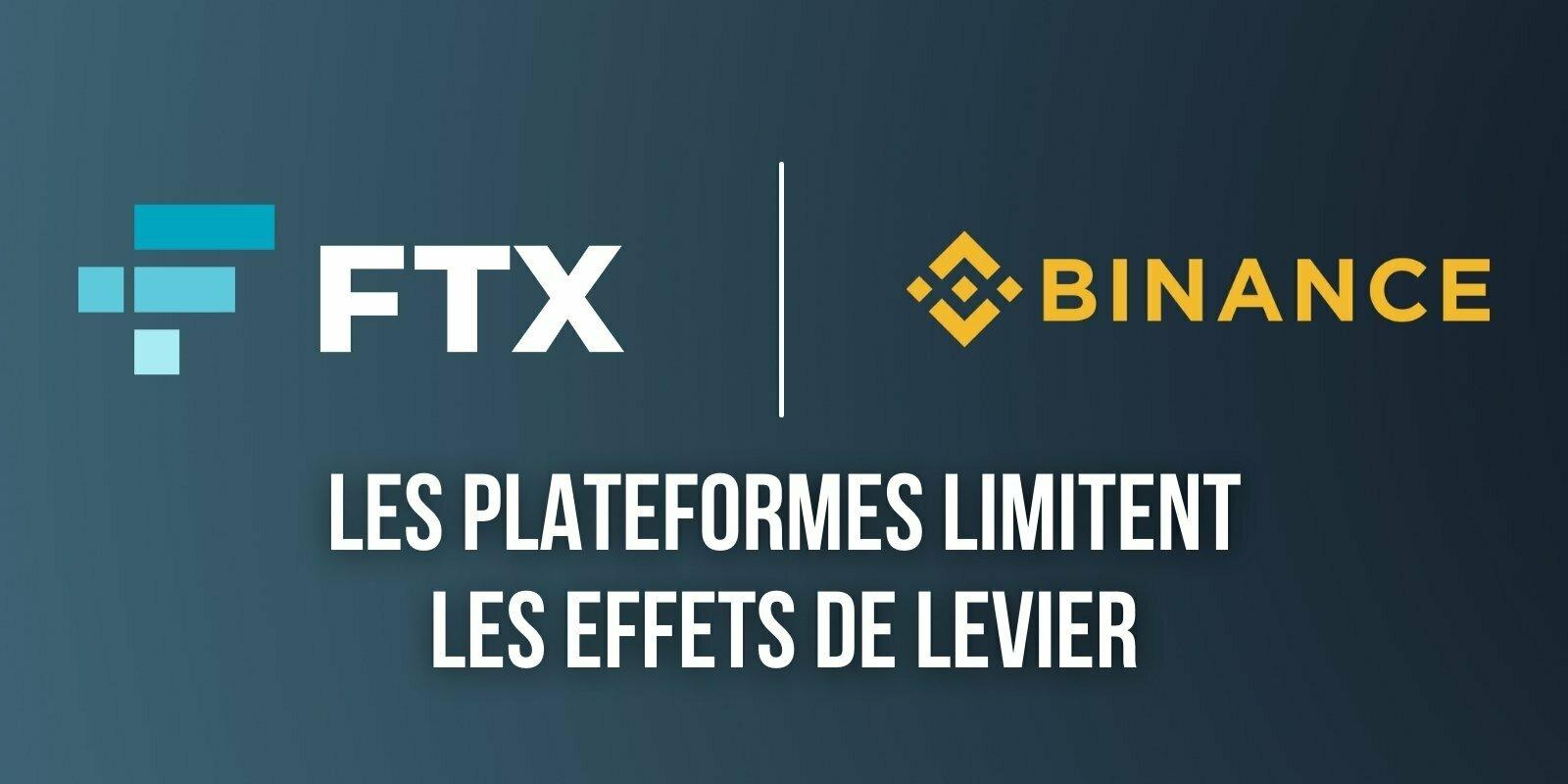 Binance et FTX abaissent à x20 leurs effets de levier pour le trading