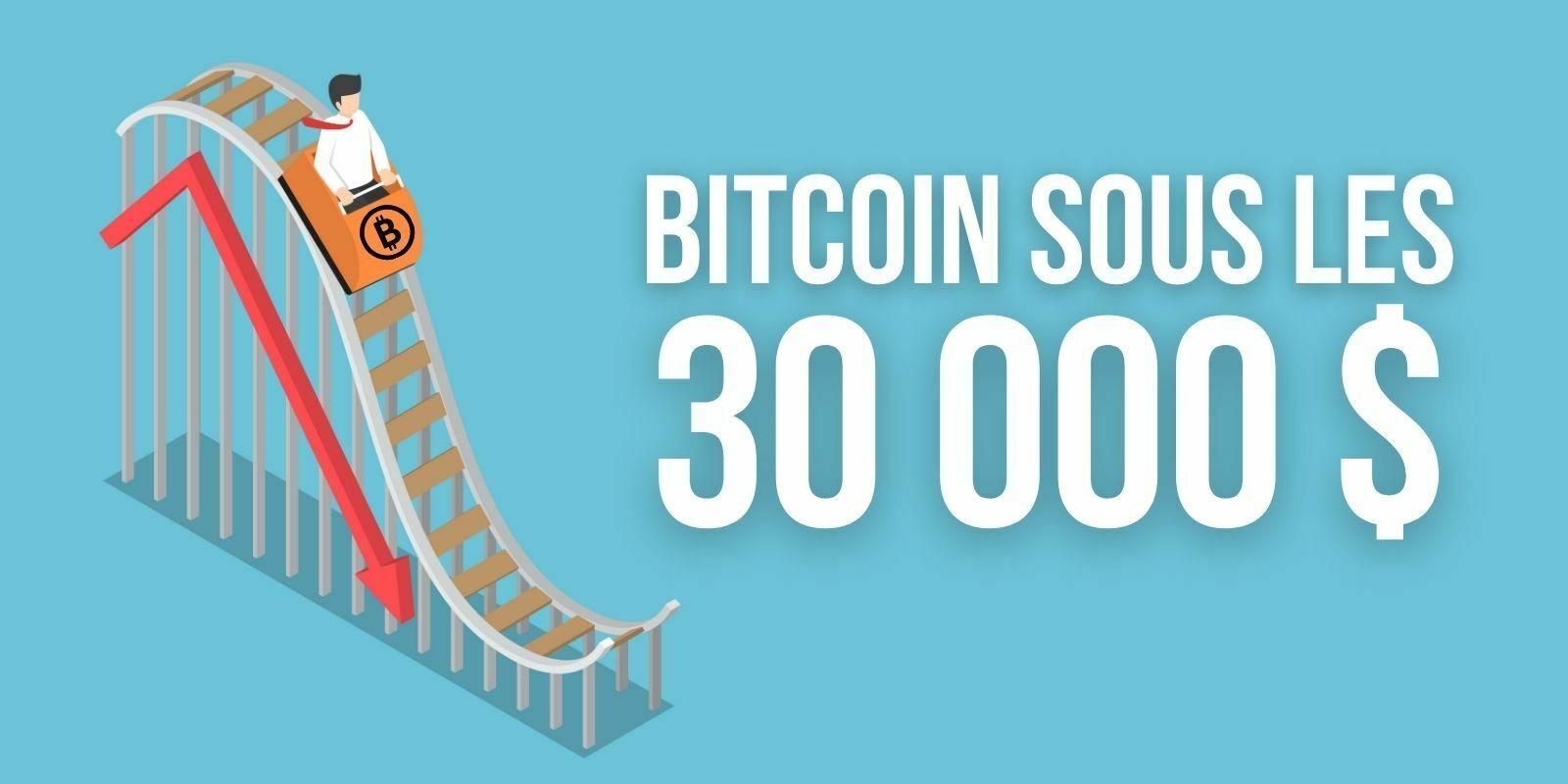 Bitcoin (BTC) sous les 30 000 dollars – Où sont les institutionnels?