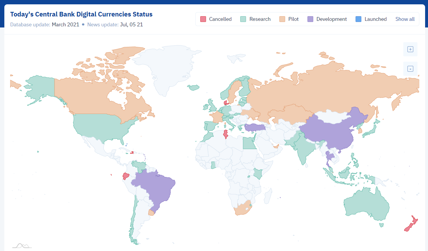 Monnaies numériques de banque centrale MNBC carte