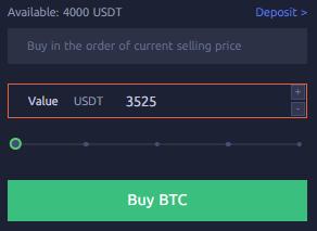 CoinEx Ordre Market