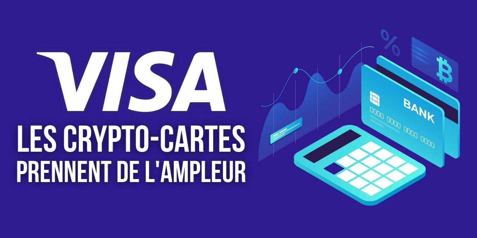La course aux cryptomonnaies continue pour Visa et ses crypto-cartes
