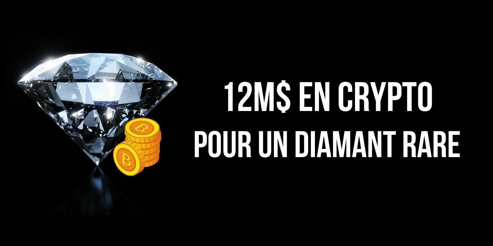 Un diamant de 101 carats vendu pour 12,3M$ en cryptomonnaies chez Sotheby's