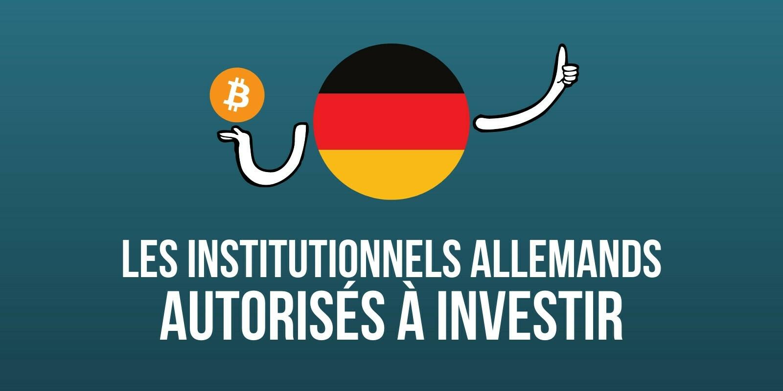 Les institutionnels allemands autorisés à investir dans les cryptomonnaies