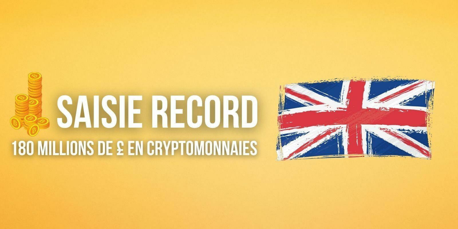 La police britannique saisit 180 millions de livres sterling en cryptomonnaies, un nouveau record