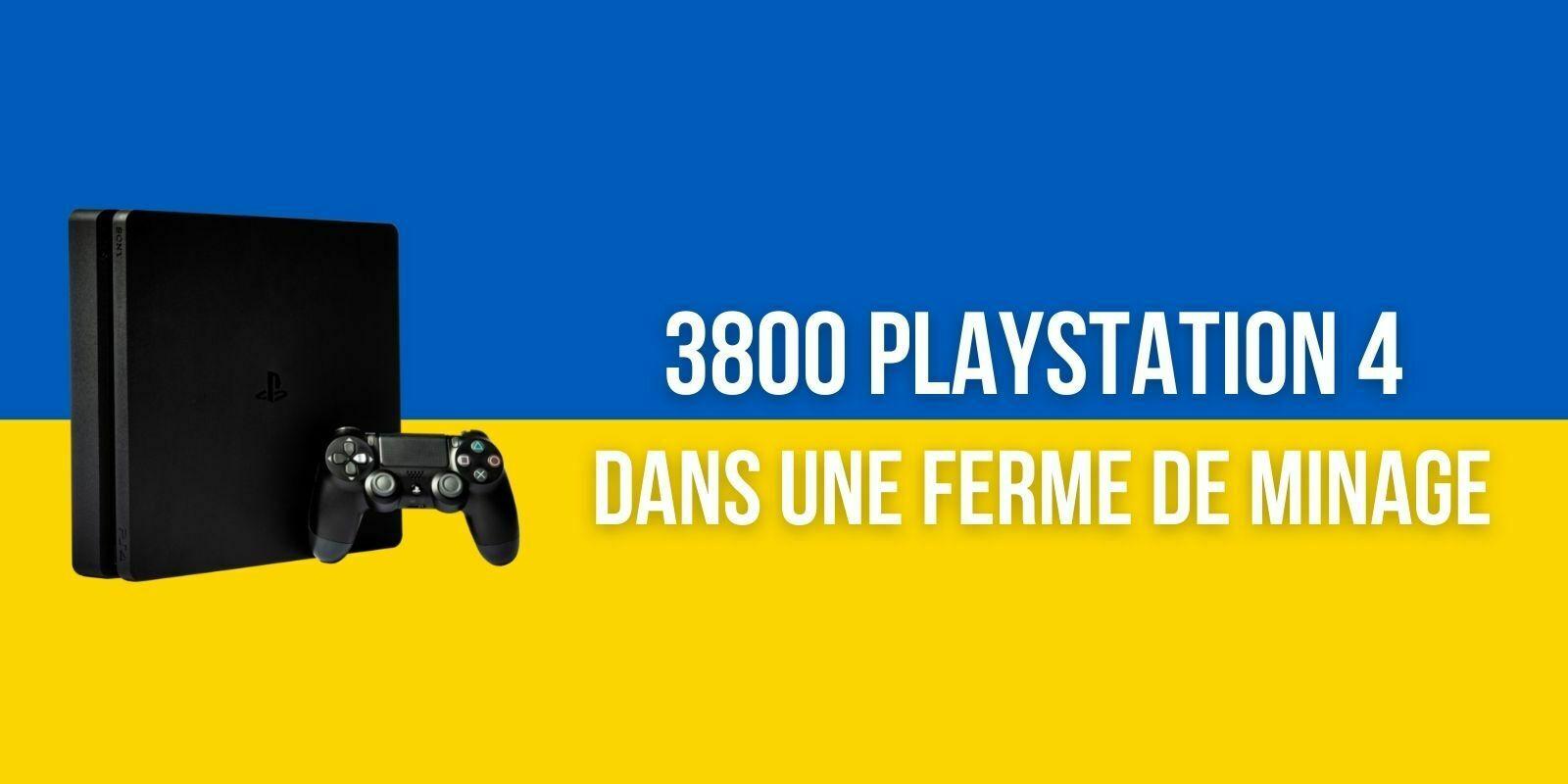 L'Ukraine saisit 3800 PlayStation 4 utilisées pour le minage illégal de cryptomonnaies