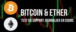 Le Bitcoin (BTC) lutte pour regagner les 50 000 dollars et l'Ether bloque aux 3 300 dollars