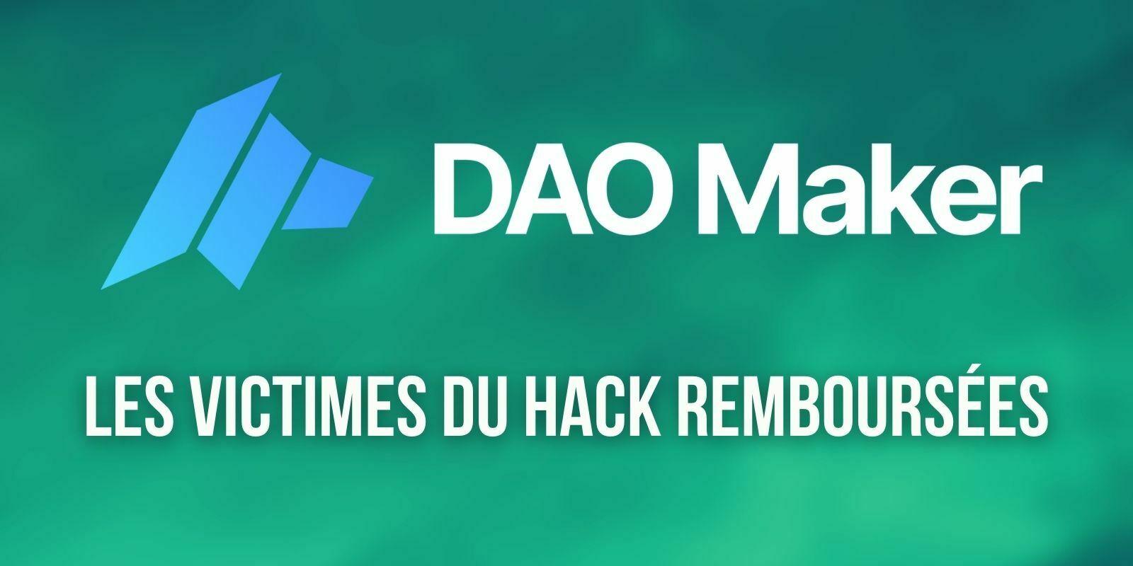 La plateforme DAO Maker rembourse tous les utilisateurs touchés par son récent hack de 7 millions de dollars
