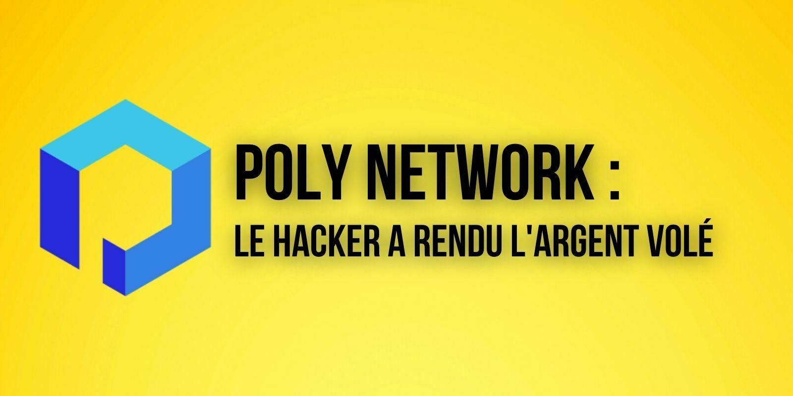Le pirate de Poly Network rend les fonds volés et refuse une prime de 500 000$