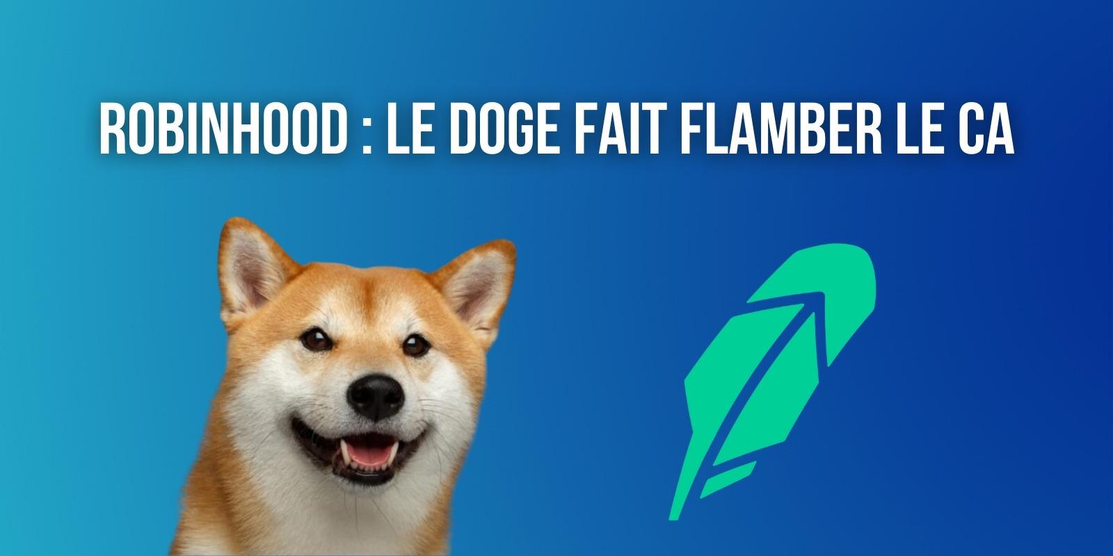 Robinhood réalise la moitié de son chiffre d'affaires grâce aux cryptomonnaies et au Dogecoin (DOGE)