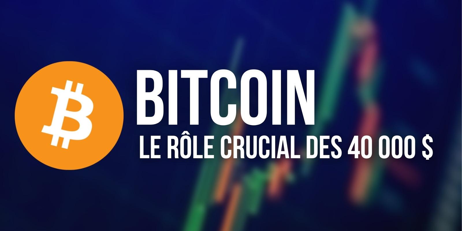 Bitcoin (BTC) – 40 000 $, la frontière technique entre les camps acheteur et vendeur