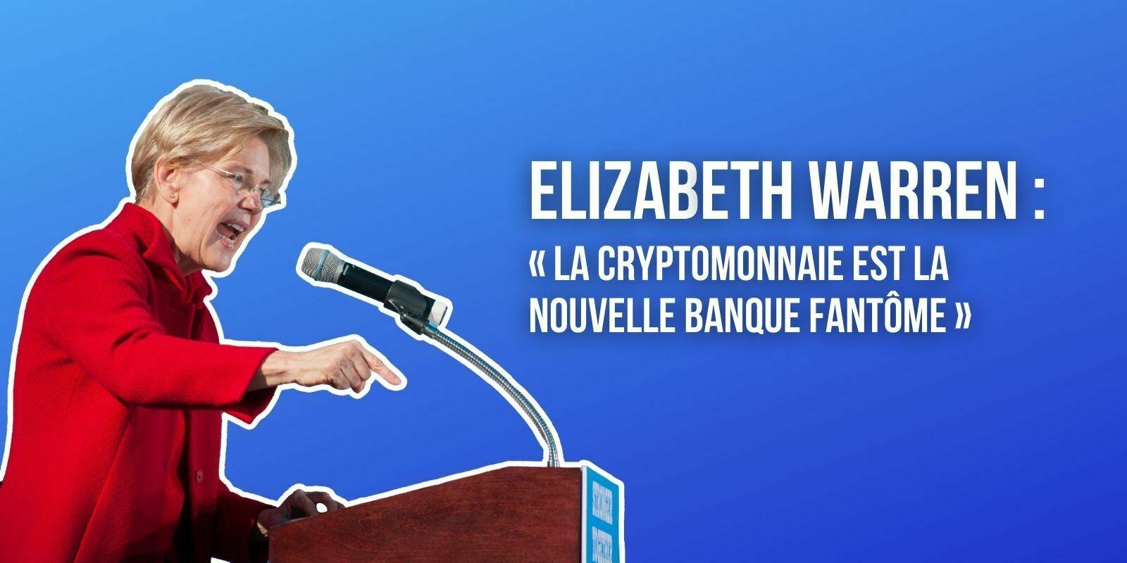États-Unis : cette sénatrice assure que la cryptomonnaie est « la nouvelle banque fantôme »