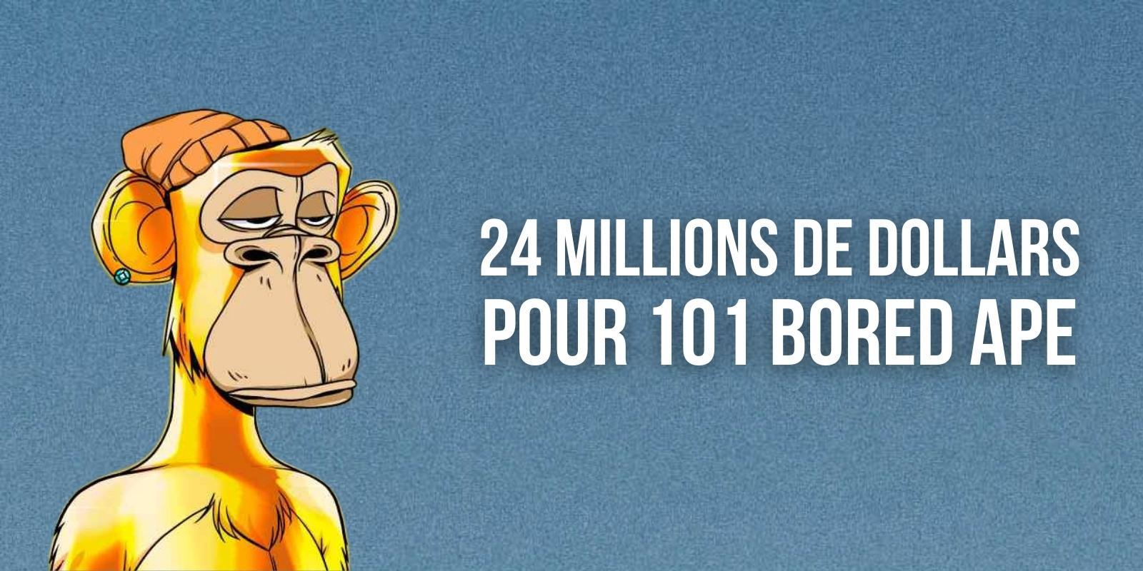 101 NFTs Bored Ape vendus aux enchères pour plus de 24 millions de dollars chez Sotheby's