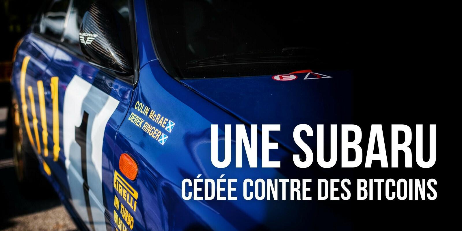 Une Subaru de Colin McRae vendue contre 8,02 bitcoins (BTC)
